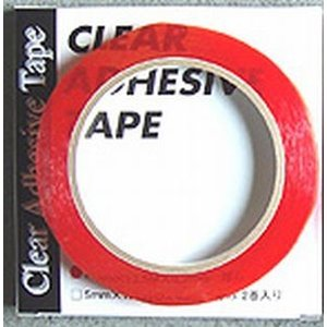 クリヤー・アドヘイシブテープ 透明 10mm(幅)×12.5m(長)×0.2mm(厚) 1巻入|hassui-dojyo