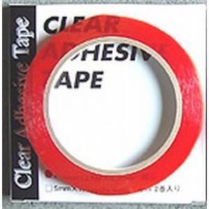 クリヤー・アドヘイシブテープ 透明 12mm(幅)×12.5m(長)×0.2mm(厚) 1巻入|hassui-dojyo