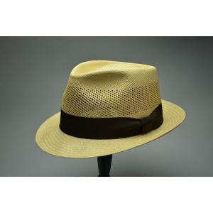 日本製本パナマ  エクアドル産の帽体を日本の技術で仕上げました    腰の部分にレースをあしらった涼...