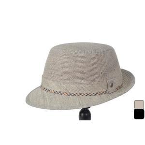 メッシュ仕立ての夏向き帽子  サマーウール特有のシャリッとした手触りで、一層涼やかです   シンプル...