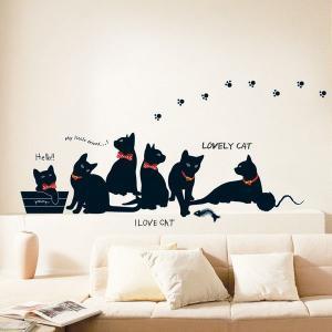 ウォールステッカー I Love Cat KR-0015|hat-shop