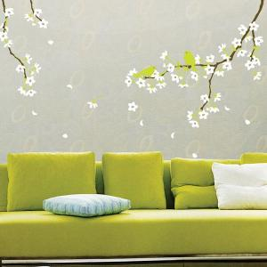 ウォールステッカー 桜と雲雀 KR-0021|hat-shop