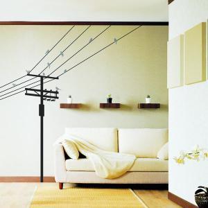 ウォールステッカー 電信柱と小鳥|hat-shop