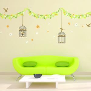 ウォールステッカー Green House KR-0062|hat-shop
