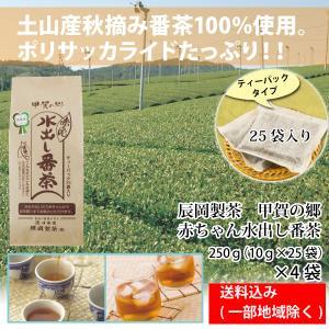 辰岡製茶 甲賀の郷 赤ちゃん 水出し番茶 ティーパック 25袋入り 4袋 送料込み 一部地域除く|hatasyou-ten