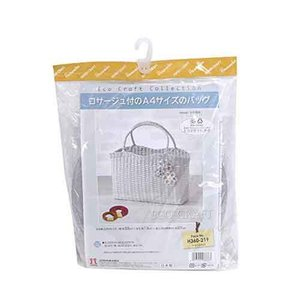 Hamanaka 手芸パック h360-219 エコクラフト手芸 コサージュ付のA4サイズのバッグ 手芸 手作り 洋裁|hatawa-koko