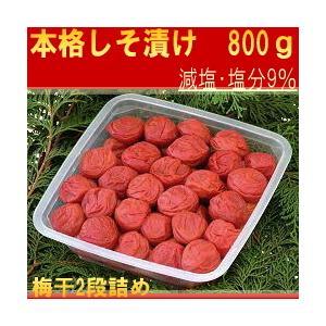 紀州南高梅 はてなしシリーズ 本格しそ漬け梅 800g|hatenasi
