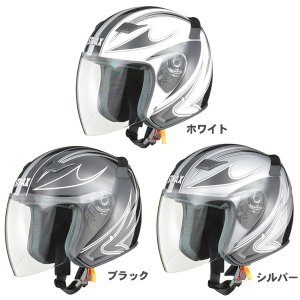 リード バイク ストラックス SJ-9 グラフィックジェットヘルメット 取寄品