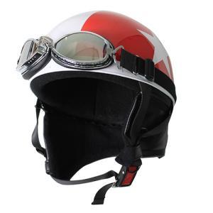バイクパーツ ヘルメット ヘルメット ビンテージヘルメット レッド/スター 取寄品|hatoya-parts-nb