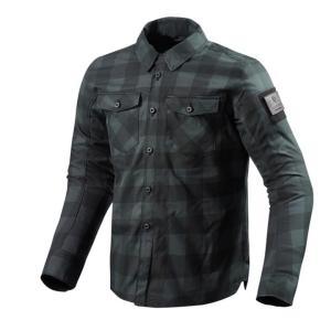 バイク ウェア レブイット バイソン オーバーシャツ グレー ブラック XL REVIT FSO006-1150-XL 取寄品|hatoya-parts-nb