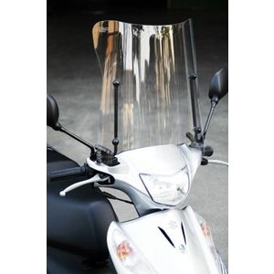 旭風防 ウインドシールド AD-03 《シールド バイク用 スクーターシリーズ ADDRESS アドレスV125 AD-03-8-06年式まで》|hatoya-parts