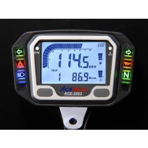 謝恩セール ACEWELL エースウェル 多機能デジタルメーター ACE-3963 (スピードメータ...