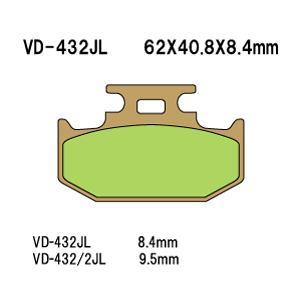 ◆◆ベスラ バイク ブレーキパット TT250R 93-95年式 リア VD-432/2JL 【取寄品】【ネット通販限定価格】|hatoya-parts
