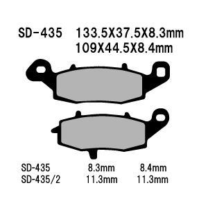ベスラ バイク ブレーキパットVN900 C7F Vulcan 900 Custom 07年式 リア SD-435/2 取寄品 ネット通販限定価格|hatoya-parts