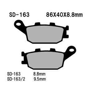 ベスラ バイク ブレーキパットVT1300CX 10-11年式 リア SD-163 取寄品 ネット通販限定価格 hatoya-parts