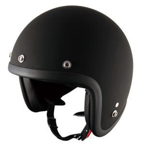 TNK バイク ジェットヘルメット フリーサイズ 58-59センチ MAD.BK JL-65 【取寄品】|hatoya-parts