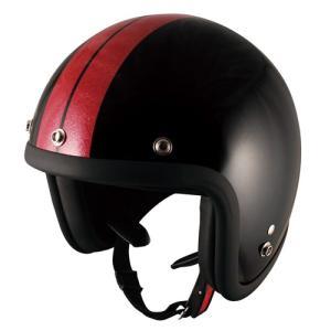 TNK バイク ジェットヘルメット フリーサイズ 58-59センチ P.WH/STAR JL-65 【取寄品】|hatoya-parts