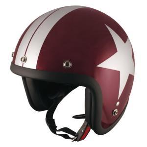 【TNK工業】【SPEED PIT】【ヘルメット】ジェットヘルメット フリーサイズ 58-59cm RED.BEEN/SI/STAR【JL-65】 【取寄品】|hatoya-parts
