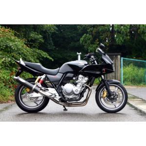 ノジマ マフラー バイク CB400SF/SB Revo. FASARM S2-JMCA ステンレス機械曲 フルエキ 4-1 カーボンモデルモデル STDサイレンサー NMB015-CLK|hatoya-parts