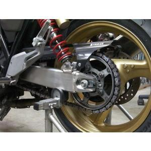ストライカー バイク ホンダ CB400SF 99-年 STRIKER エアロデザイン カーボンモデルモデルチェーンカバー SAD-CC35C 【取寄品】|hatoya-parts