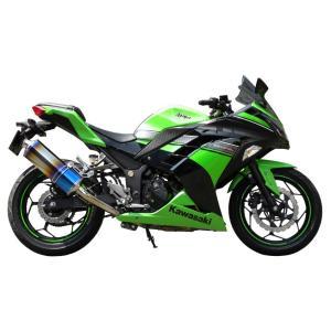 【東単オリジナル】ninja250/Z250 Titanium Slip ON muffer チタニウム スリップオン マフラーJBK-EX250L/ER250C対応【80003-KN2-43】【取寄品】|hatoya-parts