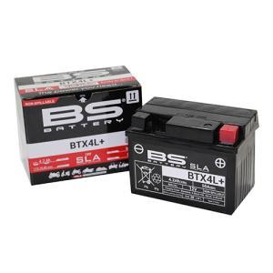 バイクパーツ バイクバッテリー BTX4L+(YTX4L-BS互換)(液入充電済) BTX4L+ 取寄品|hatoya-parts