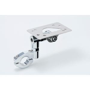 MOTOFIZZ ETCハンドルマウントステー メッキ 22.2/25.4mmタイオウ (モトフィズ MF-4679) hatoya-parts