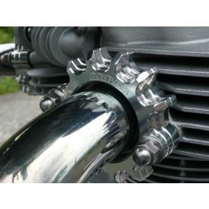 アグラス EXフランジ(2個) シルバー W800 《アグラス 400-489-000》|hatoya-parts