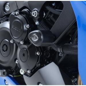 R&G エアロクラッシュプロテクター BLK GSX-S1000 ABS 15- 《アールアンドジー RG-CP0393BL》|hatoya-parts