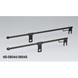 キジマ サドルバッグスライドレールブラック ロングタイプ (キジマ HD-08045)|hatoya-parts