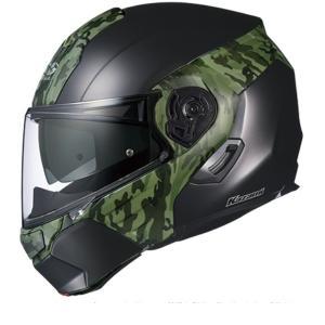 バイク OGK KAZAMI カモ Fブラック グリーン #M オージーケー 4966094576455 取寄品|hatoya-parts