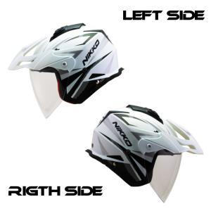 2WAYジェットヘルメット バイク インナーバイザー クリアシールド標準  NIKKO HELMET N-553 送料無料|hatoya-parts|03