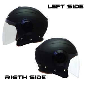 バイクジェットヘルメット NIKKOHELMET N-554 MATTE BLACK バイザー 通勤 通学 カッコいい オシャレ 安い|hatoya-parts|02