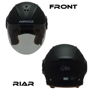 バイクジェットヘルメット NIKKOHELMET N-554 MATTE BLACK バイザー 通勤 通学 カッコいい オシャレ 安い|hatoya-parts|03