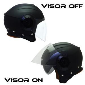 バイクジェットヘルメット NIKKOHELMET N-554 MATTE BLACK バイザー 通勤 通学 カッコいい オシャレ 安い|hatoya-parts|04