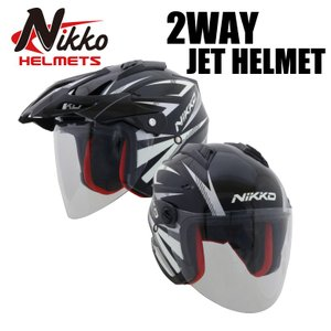 バイクヘルメット 2WAYジェットヘルメット 通勤 通学 ツーリング インナーバイザー ツーウェイ ...