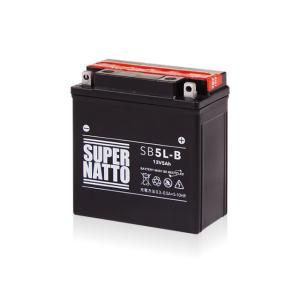 バイク用バッテリー SB5L-B すぐに使える YB5L-B 12N5-3B FB5L-B FB4AL-B 互換 スーパーナット メーカー直送のため同梱不可 カード決済限定 代引・銀振不可|hatoya-parts