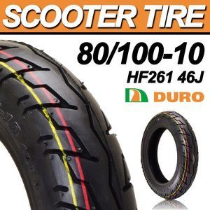 スクータータイヤ 80/100-10 DURO HF261 46J TL デューロ バイク|hatoya-parts