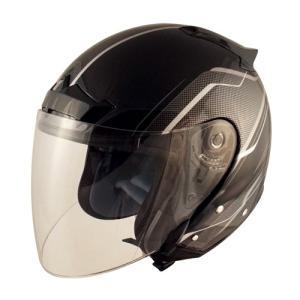TNK工業 SPEED PIT バイク用 スピードピット VJ-5シールドジェットヘルメット ZACK ブラック/シルバーメッシュ VJ-5 取寄品 hatoya-parts