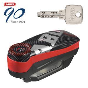 はとやのおススメ防犯 ABUS 防犯 Alarm Brake Disc Locks Detecto 7000 RS1 アラームディスクロック Detecto 7000 RS1 PIXEL RED|hatoya-parts