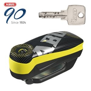 ABUS(アブス)(アバス) 防犯 Alarm Brake Disc Locks Detecto 7000 RS1 アラームディスクロック PIXEL YELLOW|hatoya-parts