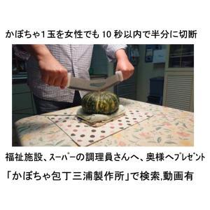 かぼちゃ用包丁(両手包丁)|hatsumei-net