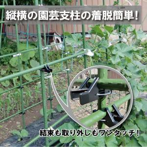 とまるくん (家庭菜園 ポール 農具 留め具)10個入り|hatsumei-net