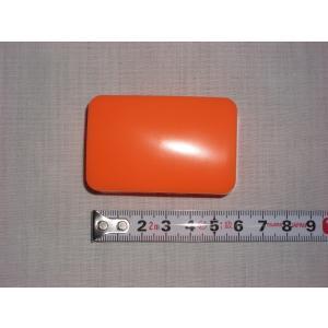 爪入れ(プラスチック製)オレンジ   琴用 箏用 和楽器 邦楽器 小物入れ カワイイ ケース 自分用 個人用 単色 普段使い 簡単 手軽