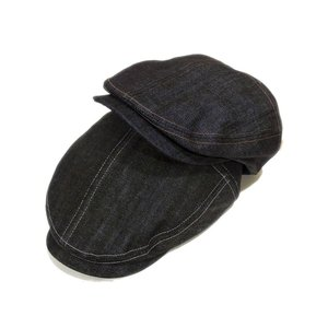 Denim Fred Hunting ハンチング 綿80% ポリエステル20% 春 夏 秋 冬 BLUE BLACK|hatter-knowledge