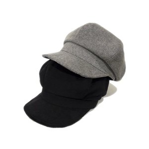Pile Wide Casquette  綿100% 日本製 キャスケット 綿100% 春 秋 冬 GRAY BLACK|hatter-knowledge