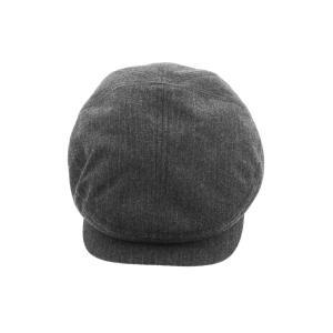 ストライプハンチング ハンチング 57-60 ウール60%コットン20%ポリエステル20% 秋 冬 BLACK BROWN|hatter-knowledge