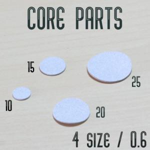 芯材 のり付きスライサー(厚)厚み0.6 パーツ 10〜25ミリ丸型 hattorikaban