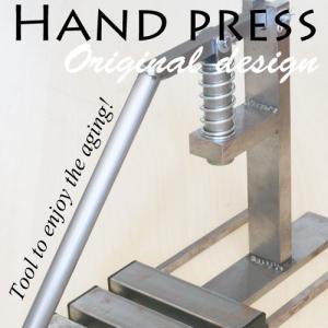 レザークラフト 道具 菱目打ち簡易ハンドプレス機 夜間作業 手磨きモデル|hattorikaban