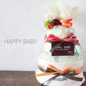 おむつケーキ オーガニック ロディ | 出産祝い 赤ちゃん 出産 ギフト プレゼント お祝い 男の子...